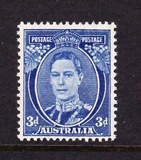 AUSTRALIA 1937-49 3d BRIGHT BLUE SG 186 MNH.