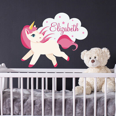 Personalized Name Wall Decal Fairy Decal Girl Name Vinyl Stickers Kids aa364