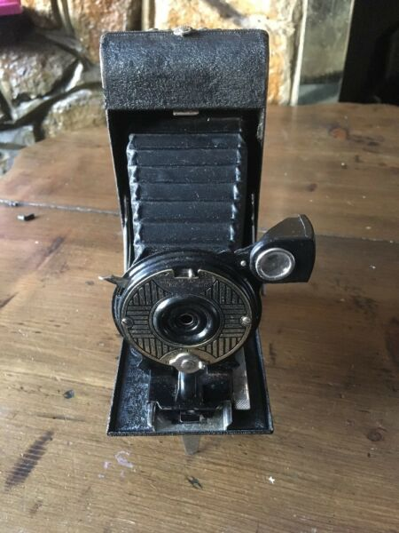 Bien éDuqué Ensign Poche Vingt Caméra Pliante Avec étui 1931 Made In England Nourrir Les Reins Soulager Le Rhumatisme