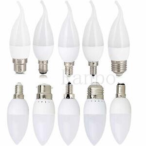 E12 Ampoule LED lustre flamme bougie lumineuse E26 E27 E14 B22 3W 2835SMD lampe