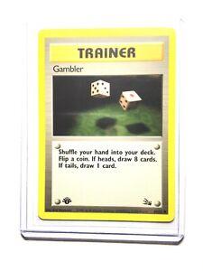 Gambler 60 Fossil Set Common Pokemon Card Near Mint