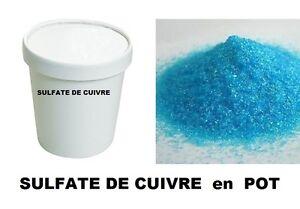 Sulfate de cuivre pur 99 pot 500 gr bouillie bordelaise - Anti algues piscine sulfate de cuivre ...