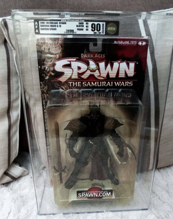 6  figure Spawn GRADED AFA 90% Series 19 DARK AGES SAMURAI Wars Mcfarlane