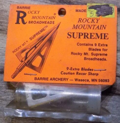 Select One NIP USA Rocky Mountain Broadhead Replacement Blades Vintage