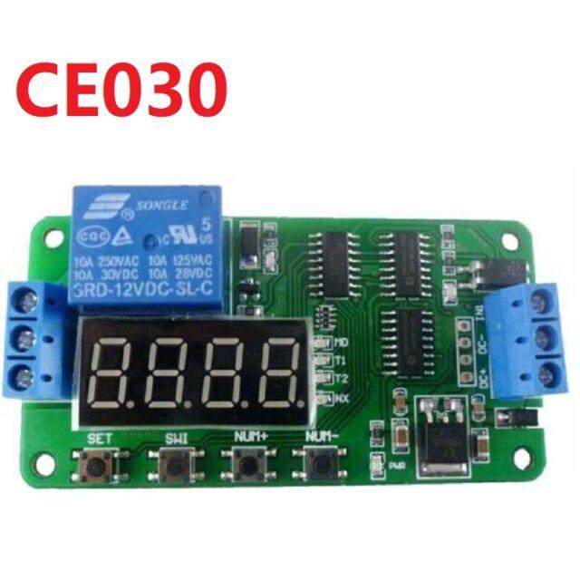 1 Pcs Dc 5v 12v 24v Multifunction Delay Relay Time Switch