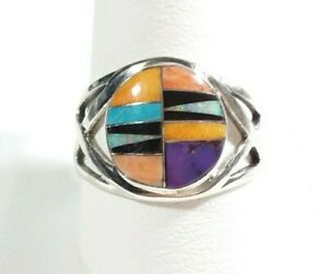 925-STERLING-SILVER-OPENWORK-DESIGN-SPINY-OYSTER-OPAL-TURQUOISE-SIZE-11-RING