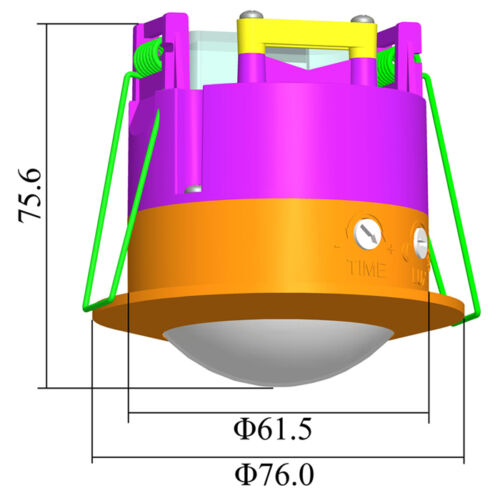 ukew ® - st41b Nouveau Argent Encastrés PIR Plafond Occupancy Capteur De Mouvement 360