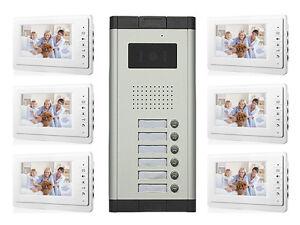 6 Apartment Intercom System 7 Video Intercom Doorbell Camera ... on