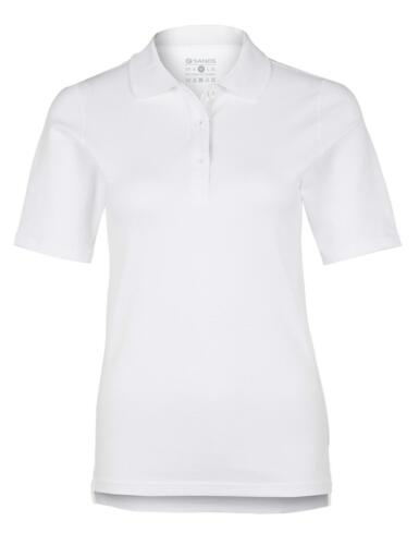 "Damen Club Poloshirt /""Slice/"" in weiß//weiß"