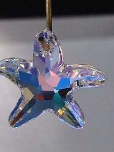 16mm Swarovski Crystal Starfish Prism Pendant Bead Suncatcher Now Retired!