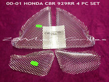 2001 HONDA CBR929RR CHROME FAIRING GRILLS SCREENS VENTS GRATES