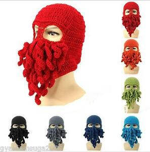af0924c4aca Handmade Knitted Octopus   Squid Beanie  balaclava Wool Hat