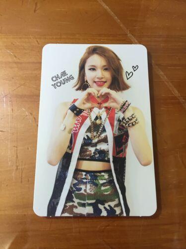 El doble álbum debut como Ohh-Ahh tarjeta roja chaeyoung Foto Tarjeta Oficial K-Pop * 22