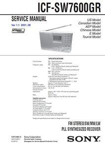 sony icf 7600 service manual