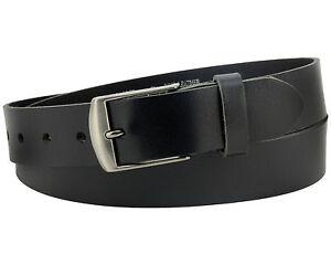 Büffel Ledergürtel 3,5 cm Herren Damen belt echt Voll Leder Gürtel schwarz Nr.18