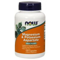 Now Foods Magnesium And Potassium Aspartate 120 Vcaps Fast 1st Class Shipping