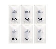 6 X D&G #10 La Roue De La Fortune Dolce Gabbana 0.05 OZ 1.5 ML Edt Spray Sample
