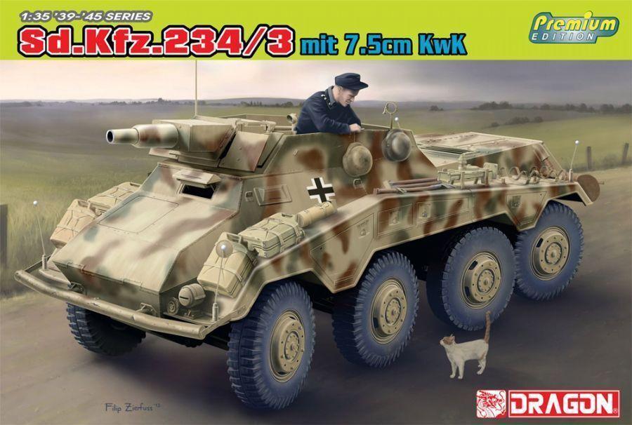 DRAGON 1 3 5 6786  AUTOBLINDO sd.kfz.234 3 con 7.5cm cc