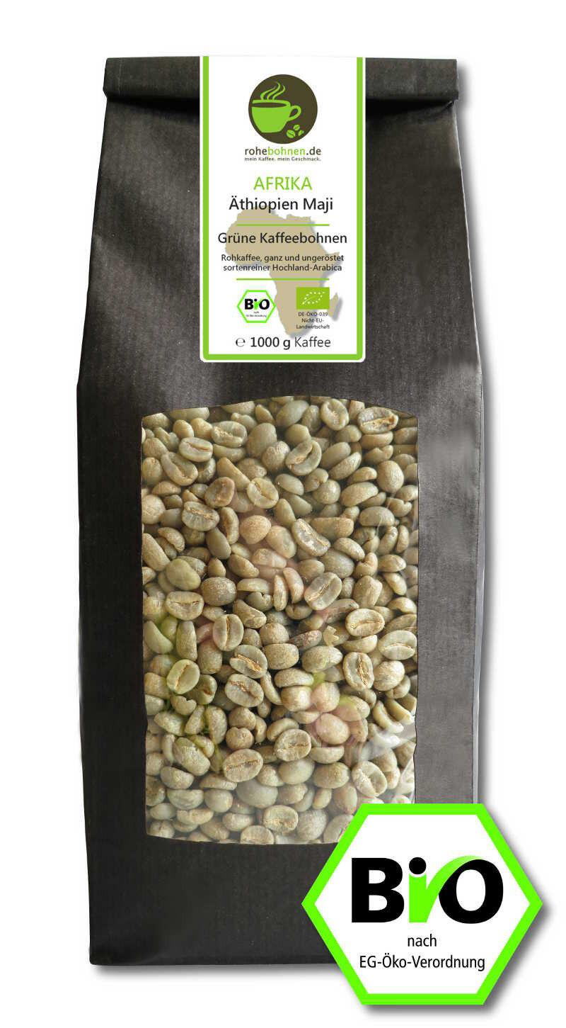Rohkaffee Äthiopien Maji Arabica Bio