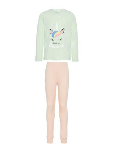 NAME IT Mädchen Pyjama Schlafanzug rosa mint Einhorn Größe 86 bis 164