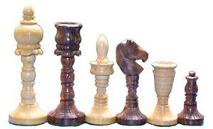 Collectible-Chess-Set-Historical-Taj-Design-King-4-034-32-Wooden-Handicraft-Pieces
