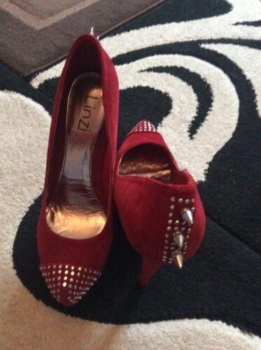 Red Stilettoes Box Linzi Spike With Stud BCqwBtRrg
