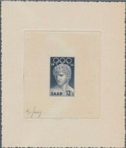 Saar-353-Artist-signed-die-proof-1956-Melbourne-Olympic-Games