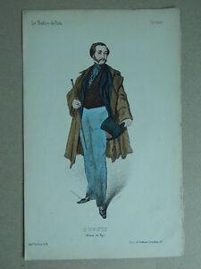 XIX Gravur Farbig Die Theater De Paris Lorsay Collette Porträt Dupuis 1853