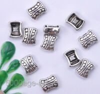 Free ship 30 pcs tibetan silver 2 hole spacer beads