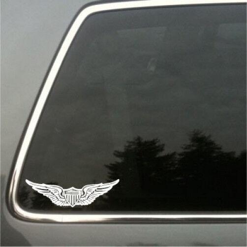 Army Aviator Badge Vinyl Decal class a,aviator,U.S. pilot wings pin,sm