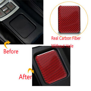 Qiilu Carbon Fiber Heating Button Cover Center Console Seat Heating Button Cover Trim Fit For Toyota 86 2013-2017