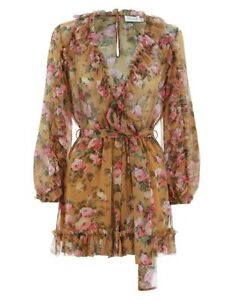 81d218a9d57 Image is loading ZIMMERMANN-Golden-Ruffle-Playsuit-BNWT-Size-2-SOLD-