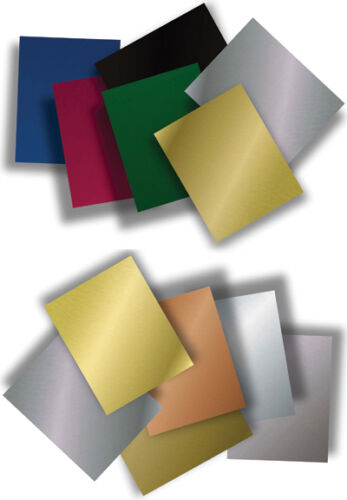 """12/"""" x 24/"""" Color Coated Anodized Aluminum Sheet Metal Plate Double Sided .025/"""""""