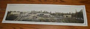 1917-Yard-Long-Hand-Tinted-Photo-Vonplaten-Lumber-Co-Iron-Mountain-Michigan