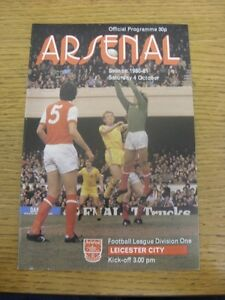 04101980 Arsenal v Leicester City   Trusted sellers on ebay bobfrankandelvis - Birmingham, United Kingdom - Returns accepted within 30 days after the item is delivered, if goods not as described. Buyer assumes responibilty for return proof of postage and costs. Most purchases from business sellers are protected by the Consumer Contr - Birmingham, United Kingdom