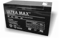 2 x ULTRAMAX AGM 12v 9Ah (as 7Ah & 10Ah) - MOBILITY SCOOTER WHEELCHAIR BATTERIES