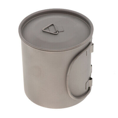 400ml Titanium Outdoor Camping Water Cup Pot Backpacking Travel Cup with Lid