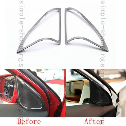 2x Front Door Speaker Chrome Cover Trim For Mercedes-Benz GLA Class X156 14-2016