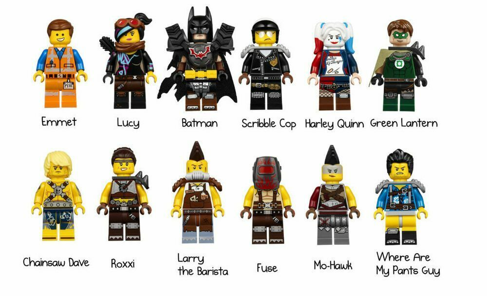 The LEGO Movie 2 70840  Welcome to Apocalypseburg  Complete 12 Minifigures - New