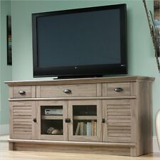 Entertainment Center Metal Cabinet Harbor View Credenza in Salt Oak TV Stand