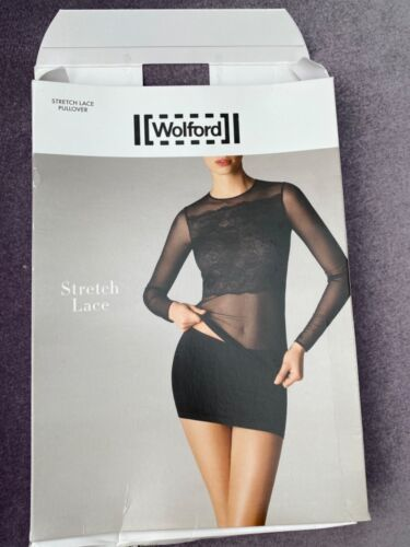 Wolford STRETCH dentelle noir pull taille S