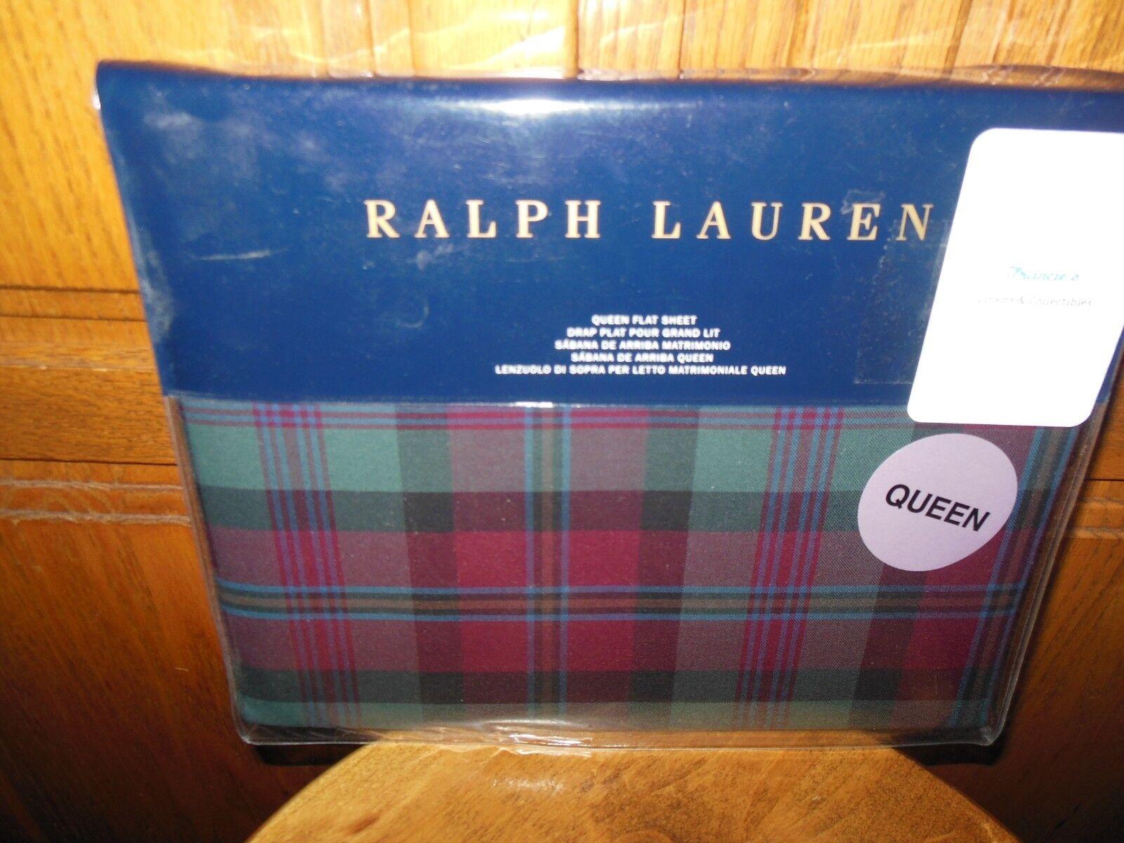 RALPH LAUREN - BOHEMIAN MUSE PLAID QUEEN FLAT SHEET