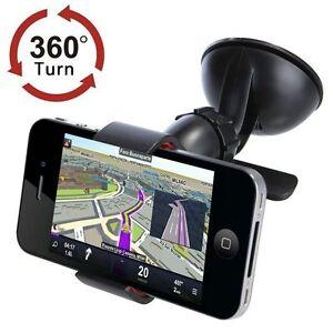 360-UNIVERSAL-PARABRISAS-TELEFONO-Montaje-Coche-Sujecion-para-iPhone-GPS-Movil