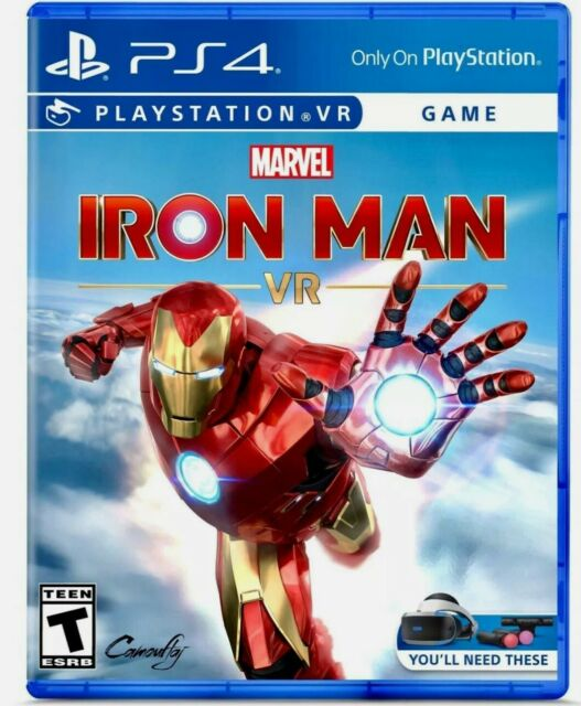 Marvel's Iron Man VR PS4 [Brand New Factory Sealed] Sony PlayStation 4 Marvel