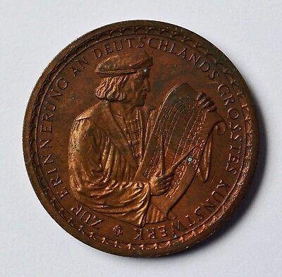 Aufrichtig Medaille Bronze Köln 1928 Kölner Dom 680 Jahrfeier Gerhard Von Rile Dm. 3,5 Cm Hohe Sicherheit