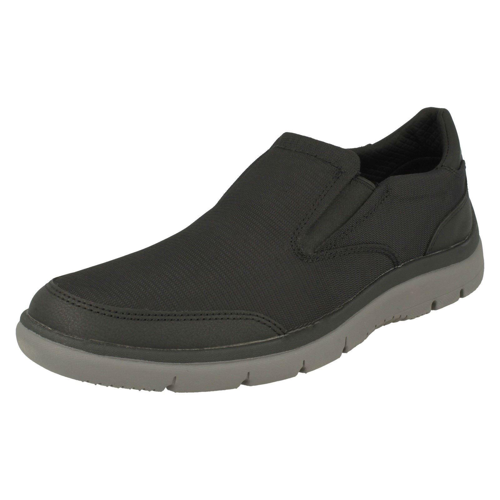 Mens Clarks Casual Slip On Fastening Textile Trainers - 'Tunsil Step'