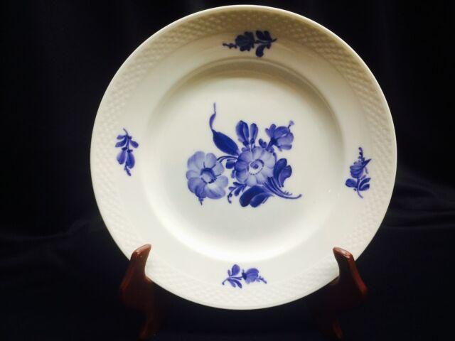 Royal Copenhagen Denmark Blue flowers serving dish and 8 cake plates