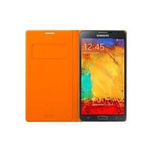 Samsung Wallet Flip Cover Case for Samsung Galaxy Note 3 - Wild Orange