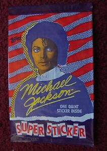 Details About Unopened Pack 1984 Topps Michael Jackson Super 5 X 7 Sticker Cards