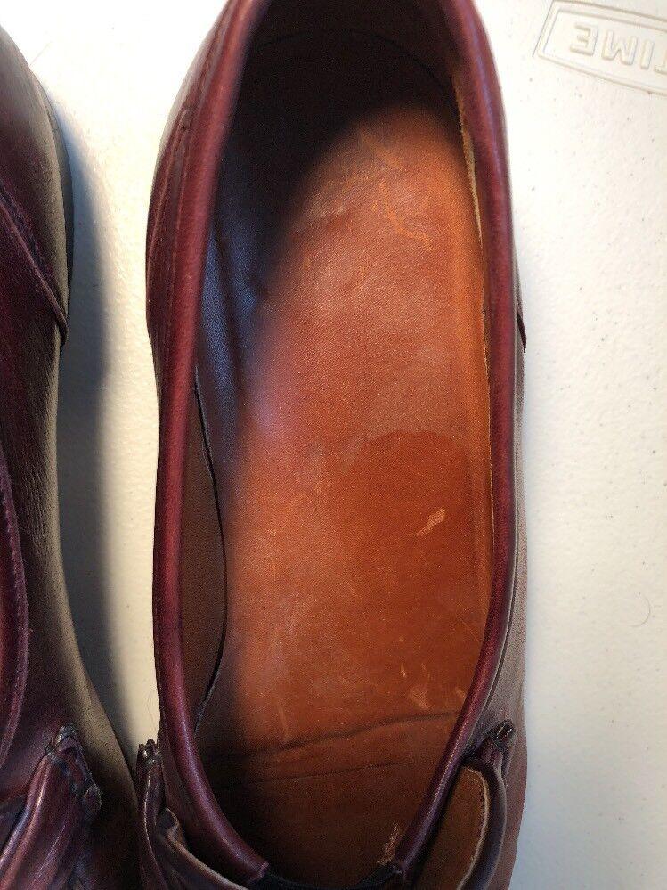 Allen Edmonds Italy Bergamo Dark Burgundy Calf Leather Slip da On Loafer Size 12B Scarpe classiche da Slip uomo ad5515